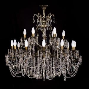 Люстра бронзовая Богиня Темная (18 ламп)