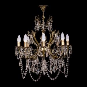 Люстра бронзовая Желудь (8 ламп)