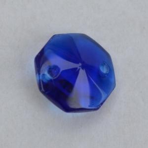 Хрустальная подвеска Октагон (оптикон) синий