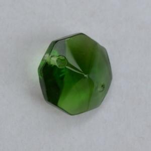 Хрустальная подвеска Октагон (оптикон) зеленый