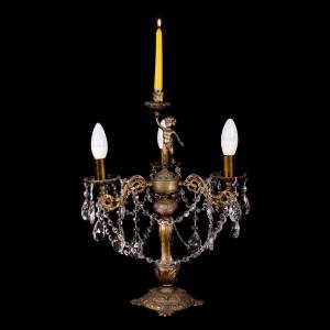 Настольная лампа бронзовая (3 ламп)