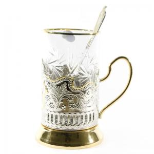 Набор Чайный с позолотой Глухарь