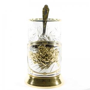 Набор Чайный с позолотой Лихая тройка