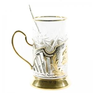 Набор Чайный с позолотой Охотники на привале