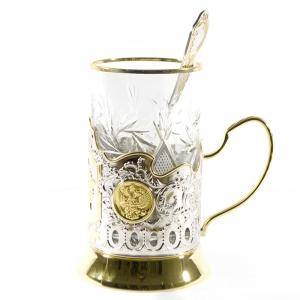 Набор Чайный с позолотой Победа