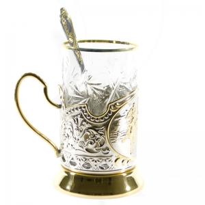 Набор Чайный с позолотой Три богатыря