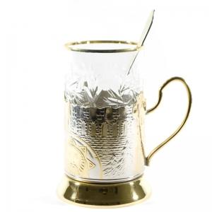 Набор Чайный с позолотой Воевода